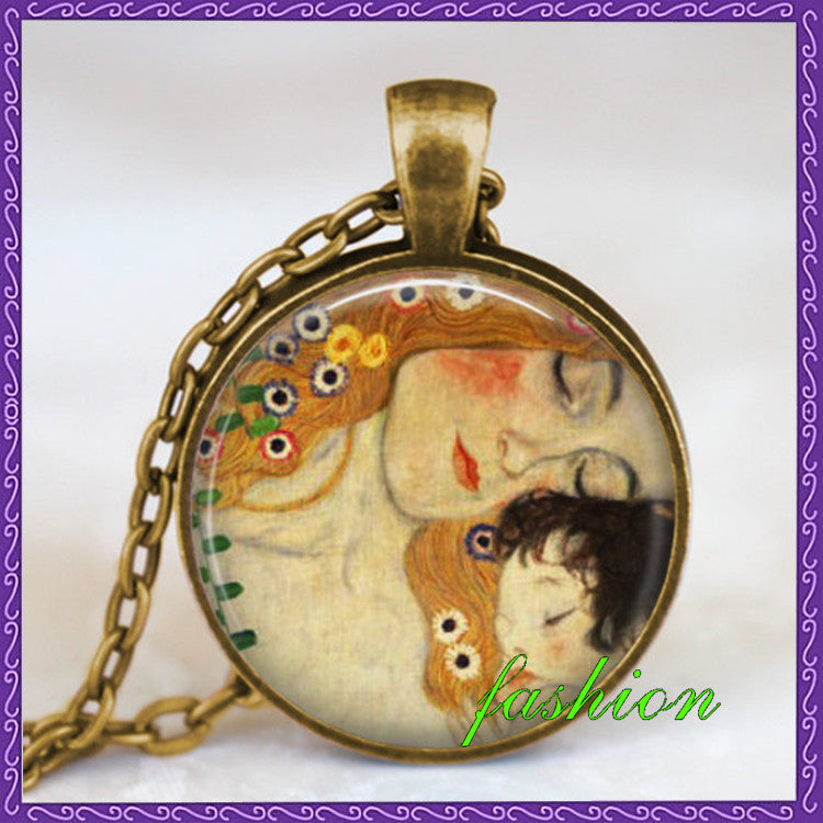 Mother child gustav klimt necklace mother and child jewelry mothers mother child gustav klimt necklace mother and child jewelry mothers day gift mother gift idea mom aloadofball Image collections