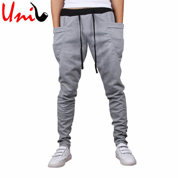d17daae542e New Autumn Winter Harem Pure Color Casual Full Trousers Pants for Men