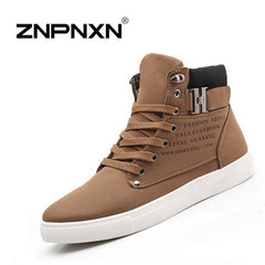 ZNPNXN spring autumn boots lace up Fashion men boots, ankle motorcycle boots for men size:39-44