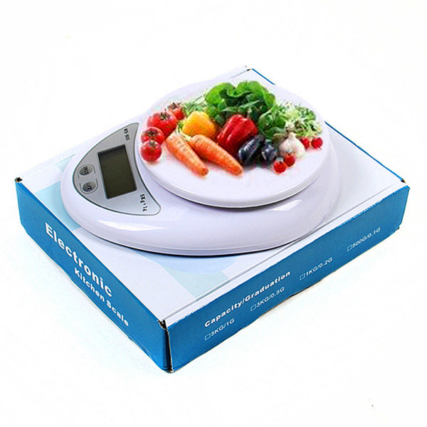 New Arrival 5Kg x 1g Digital Kitchen Scale Best Diet Food Compact LED Electronic Steelyard Free Shipping