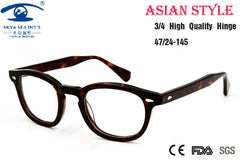 Asian People High Quality Johnny Depp Glass Eyewear Frames Men Vintage Round Frame Glasses Mens Retro Optical Frame Rx