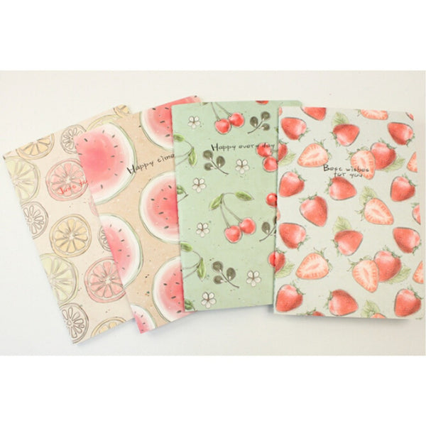 Free ship!1lot=28pc! Hand painted fruit sky Notepad /A5 line soft copy.book/student notebook/Writing Pads/office&school supplies