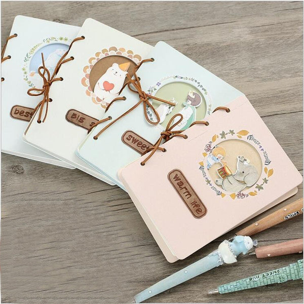 DIY Cute Cartoon Kawaii Anime Notebook Lovely Girl Writing Pad With Pen For Kids Gift Korean Stationery Free Shipping 2005