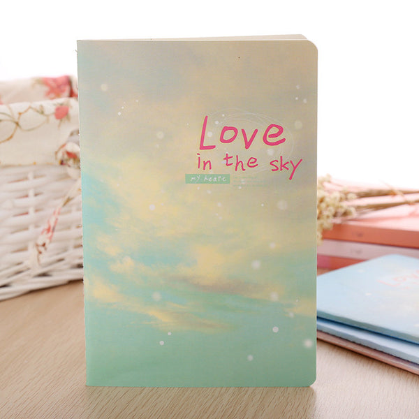 Korea Stationery Cute Kawaii Notebook School Supplies Agenda Binder Writing Pads Personal Diary Staionary Sketchbook Love Sky