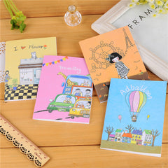 Brand New Mini Notebook Cute Paper Writing Journals Diary Notebook Travel Pockets Planner Note Pad Pattern Randomly