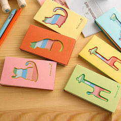 5pcs/set Stationery lovely hollow small deer notes notebook  Portable School office supplies Writing Pads Student gift Papelaria