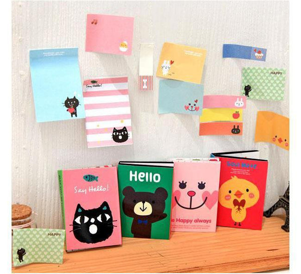 Sticky Notes Colorful Bookmark Animals Memo Lovely Sticker Point It Marker Flags