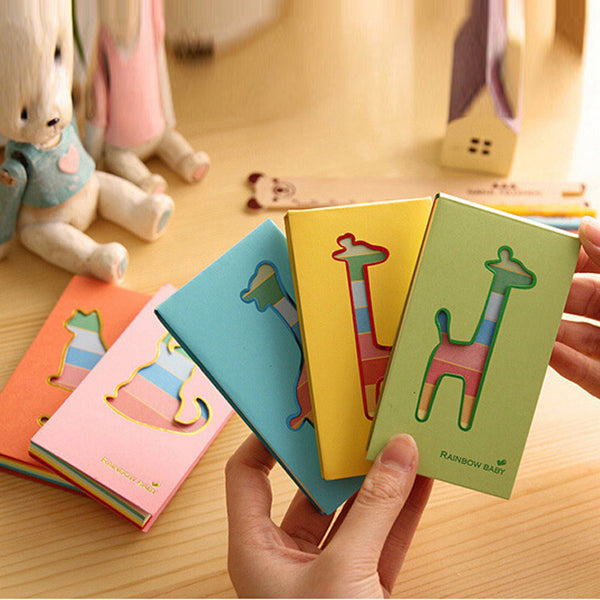 5pcs/set Stationery lovely hollow small deer notebook  Portable School office supplies Writing Pads Student gift Papelaria