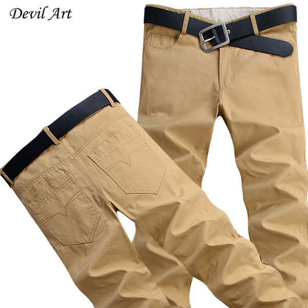 High Quality Casual Pants Washed Cotton Business Trousers for Men 9 Colors Size: 28-44 Large Size