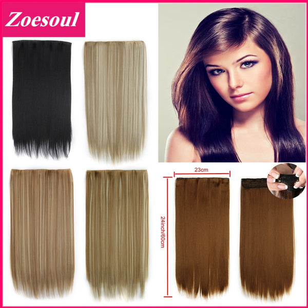 2017 Best Brand Extensions De Pelo Natural Clip In Hair Extensions One Piece Full Head Clip On Hair Extensions Free Shipping - 24inch 60cm 120g