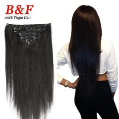 New Arrival 7pcs/set Human Clip In Hair Extensions 100g 18-24 Inch Hot Clip In Human Hair Extensions Free Shipping