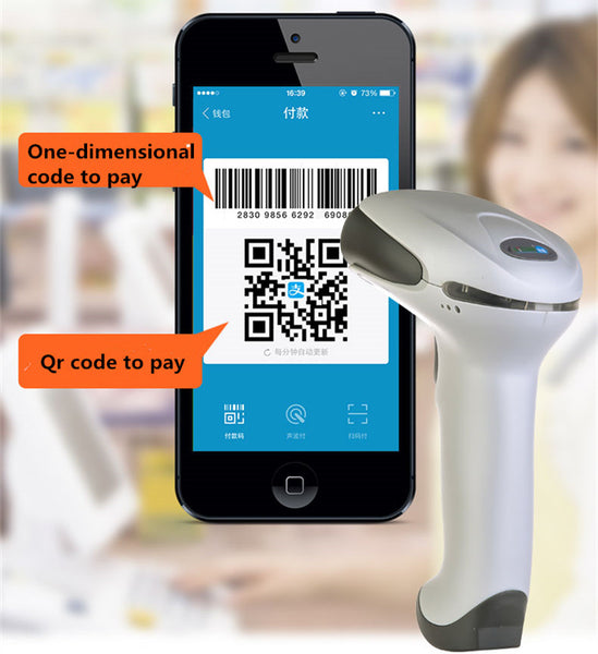NEW USB laser Barcode Scanner Reader support mobile payment computer screen scanner one-dimensional code two-dimensional code
