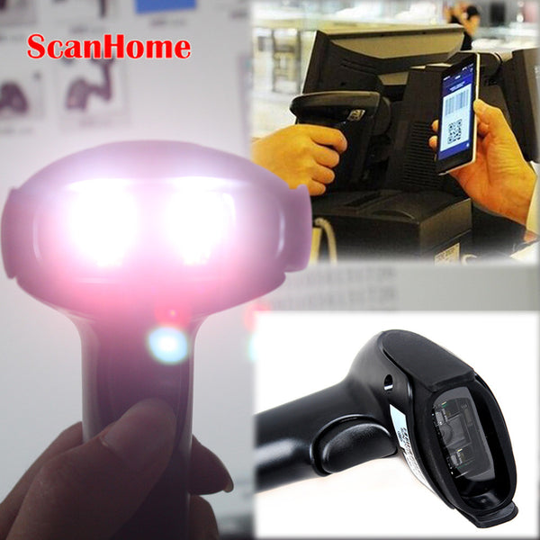 Free Shipping!2D QR Wired Handheld USB laser Barcode Scanner Reader For Mobile Payment Computer Screen Scanner&Virtual COM Port