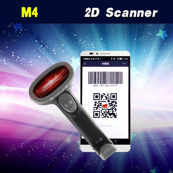 Free Shipping!M4 Wired USB 2D Laser QR Bar code Scanner Reader Android Mobile Payment Computer Screen Scanner
