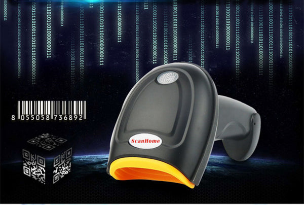 wired barcode scanner gun  supermarket Retail Stores bar code reader function of One and Two Dimensional Phone computer screen