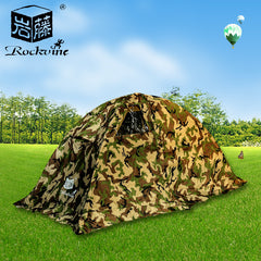 outdoor equipment leisure camouflage single tent camping tent family account climbing seasons rain proof tent