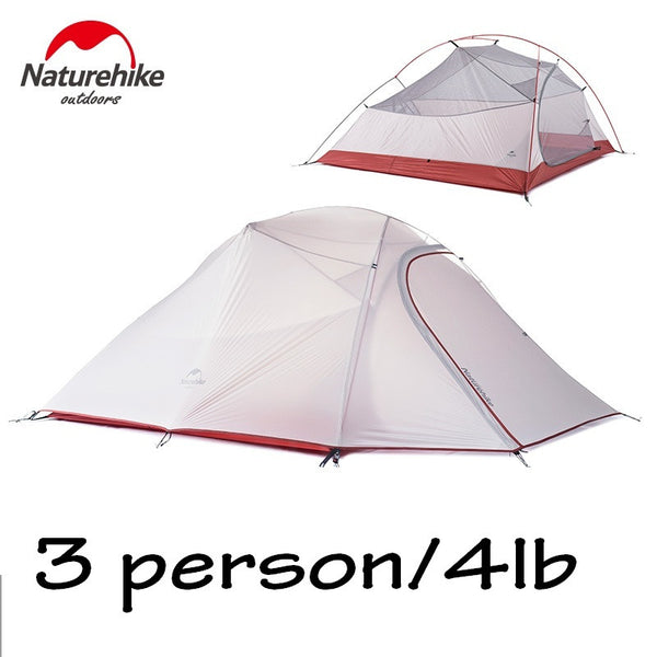 Naturehike 3 Person Outdoor Carpas Camping Tent Ultralight Large Family Tente Waterproof Lightweight Tenda