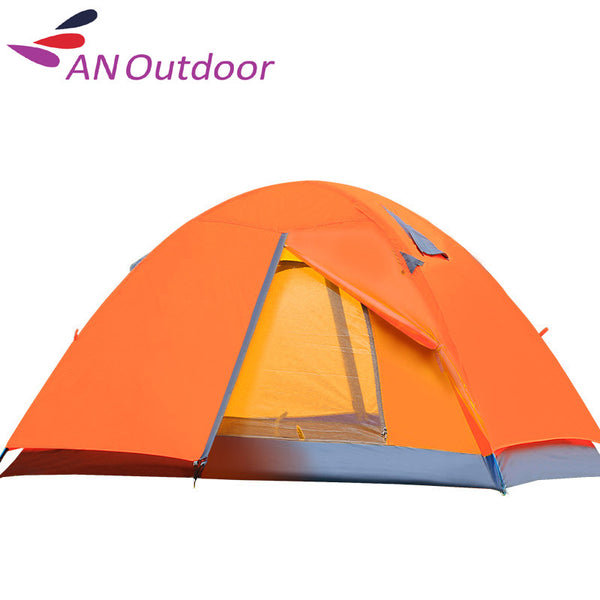 New Tents Camping Family  Double Layer Two camping Tent 3 Person Waterproof  200CM*150CM*110CM Blue/Orange/Green