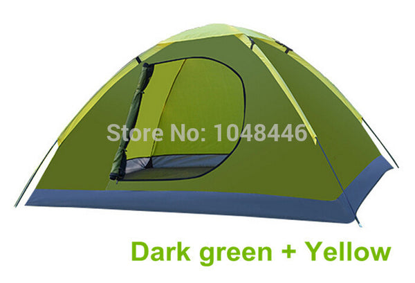 Tourist tent double rain rollover door ultra portable camping tent Family Tent
