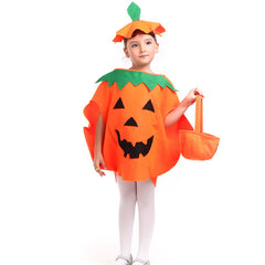Children's Halloween 2016 Costume Pumpkin Clothing Hat Bag Suit Cosplay Clothes Coat Outerwear - 100 to 150cm