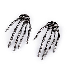 New Arrival Skeleton Claw Skull Hand Shap Gothic Hippie Rock Punk Ear Studs Earrings