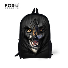 New Stylish 3D Animal Men Travel Backpacks Shoulder Rucksack Tiger Mochila Infantil for Kids