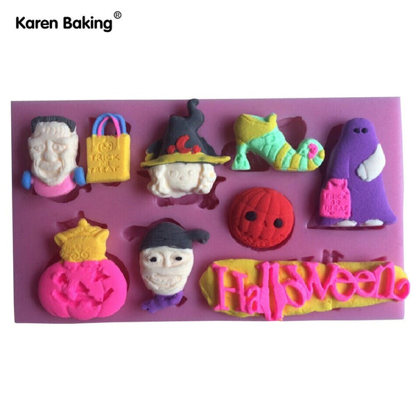 The Halloween 2016 Theme Decoration Shape Fondant Cake Molds Tools Decorating Cooking Tools