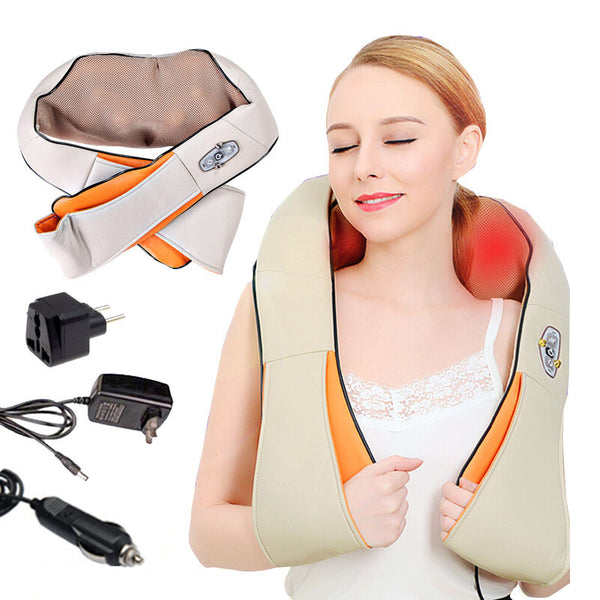 Multifunction anti cellulite home car massager pillow acupuncture shiatsu heating kneading neck shoulder massage darsonval belt