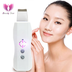 Ultrasonic Skin Scrubber Ultrasound  Facial Skin Cleaner Anion Ultrasonic Face Skin Peeling Massager Facial Cleaner  Scrubber