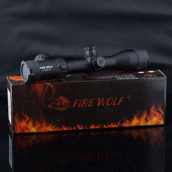 DHL Free shipping 2016 NEW Fire Wolf 3-12X42 SF Riflescopes Rifle Scope Hunting Scope w/ Mounts