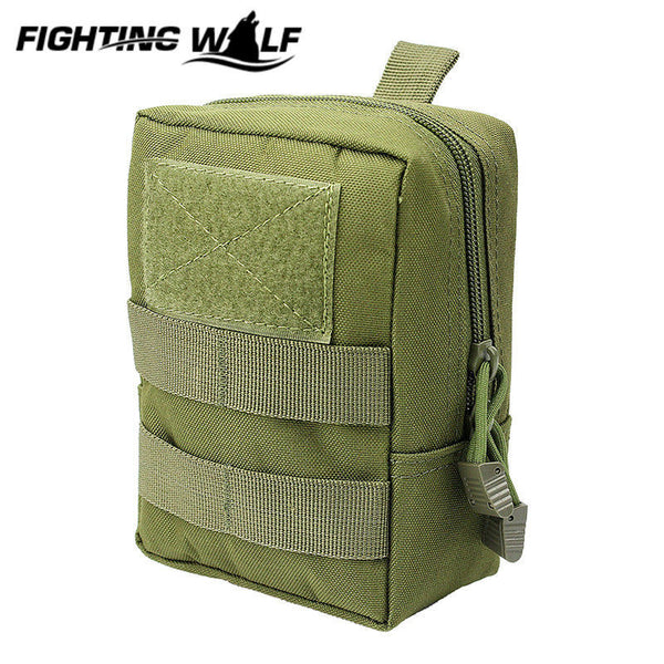 Military Tactical 1000D Outdoor Waist Bag Multifunctional EDC Molle Pouch Tool Zipper Waist Pack Accessory Durable Belt Pouch