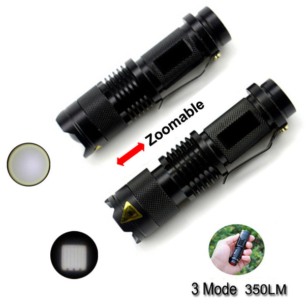 LED Adjustable Focus Hunting Lights,Waterproof Aluminum Alloy Zoomable Penlight,Lighting Linternas Hiking Camping Hunting Kits