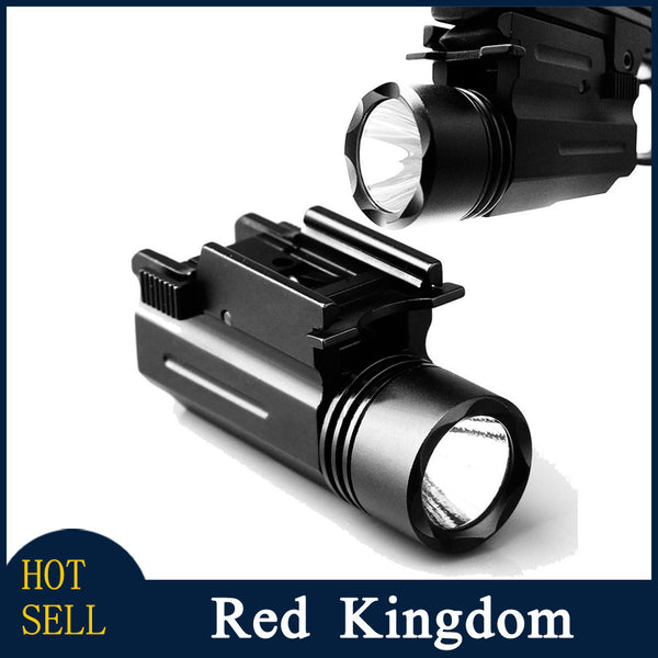 Tactical LED Cree Flashlight  210 Lumens for Glock 17 19 20 21 22 23 with 20mm Weaver or Picatinny rail