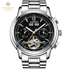 New Fashion Southeast Cutout Mechanical TourbillonWaterproof Stainless Steel Commercial Automatic Watch for Mens
