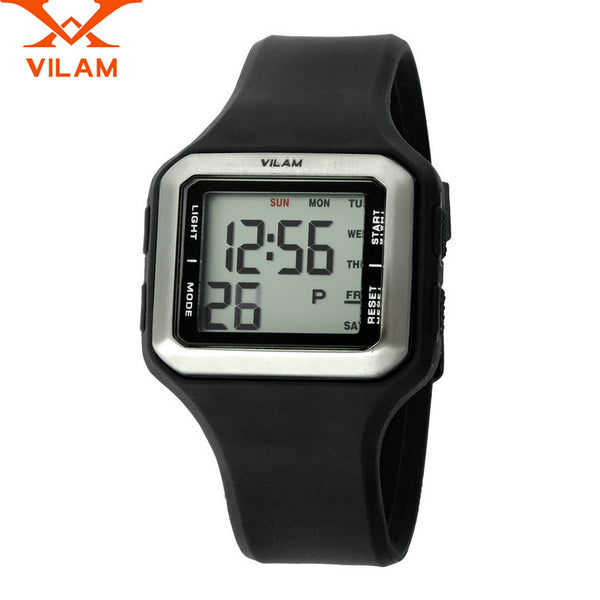 New Arrival VILAM Sports Military Brand Fashion Casual Digital Outdoor Climbing Run Clock Watch for Men