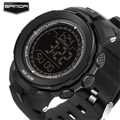 2017 New Hot Sale SANDA Luxury Brand Sports LED Digital Waterproof Outdoor Casual Military Wristwatches for Men