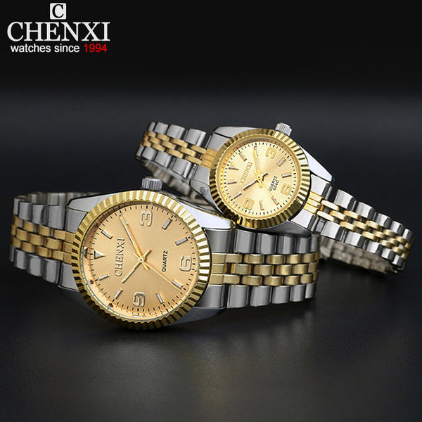 New NWT Luxury Brand CHENXI Steel Band Quartz Dress Watches for Fashion Lovers