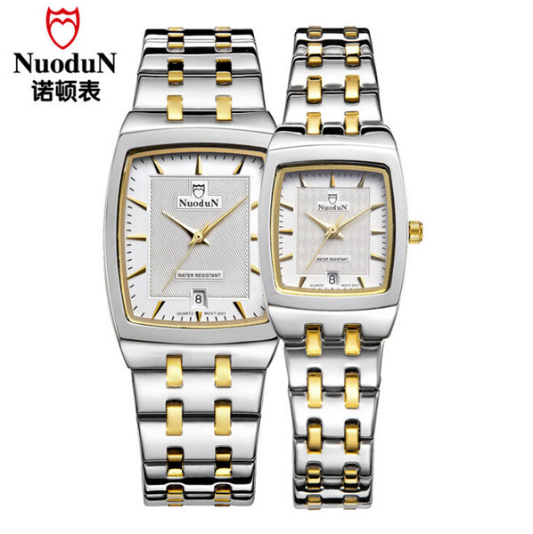 2017 Top Brand NuoduN Business Lover's Barrel Shaped Simple and Elegant Quartz Watches for Men and Women