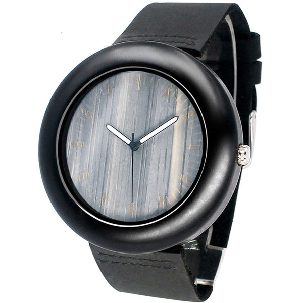 New Fashoin Creative Black Wooden Natural Quartz Movement Wood WristWatches for Men and Women