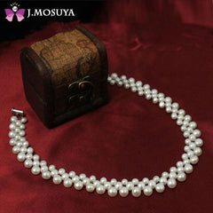 Genuine Fresh Water Natural Pearl Necklaces For Women Gift Real Pearl Jewelry Choker Necklace