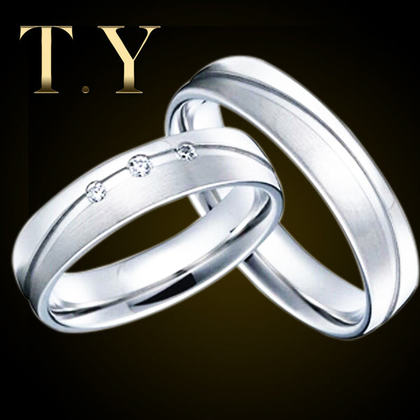 65c2e6e535 925 Sterling Silver Engagement Wedding Couple Rings 0.03cttw Real Dimo    ShaziShop.com