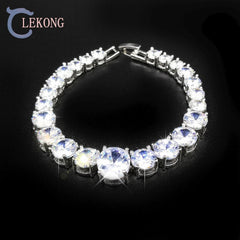 Lekong shining diamonds bracelet for women with 23 zircons