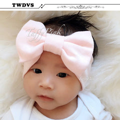 TWDVS Baby Cotton Knot Elasticity Headband baby girls wide Knot hair band Kids Hair Accessories W193