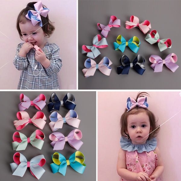 2016 New Arrival Baby Girls  Hair Accessories fashion Bow Hairpin cute children headwear kids baby girls Hair Accessories