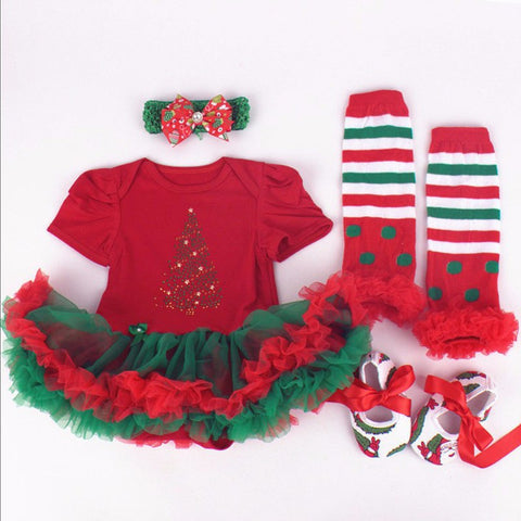 new year Christmas ideas gift for kids Infant newborn Girl Clothes Photo Outfit Autumn Baby rompers bebe clothing