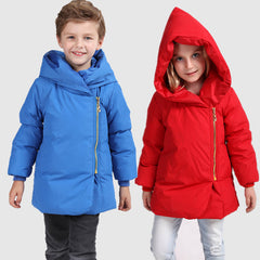 2016 Fashion Girls and Boys Jackets duck down Coats  Hooded Thick Warm Parka Winter Warm Children Outerwear 2-7 years