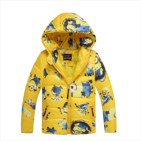 9ca07b50a Winter Boys coats despicable me 2 Colors minion wadded jacket child ...