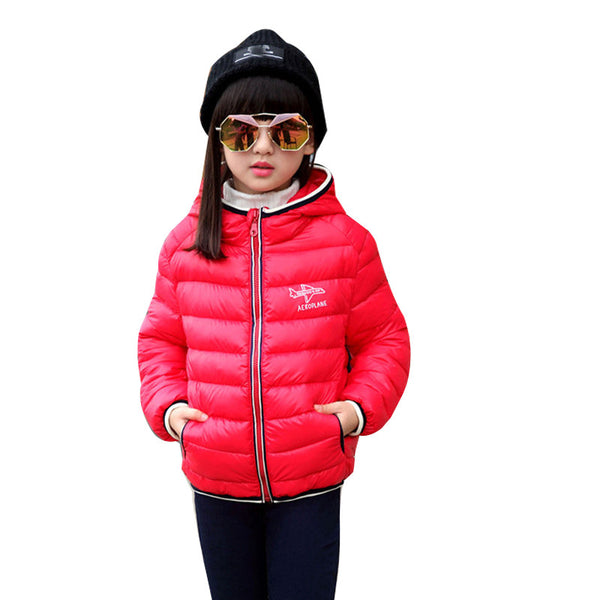 2016 winter high quality new baby boy and girl  down jacket children's thick warm down Coat,kids sports hooded outerwear  XY50