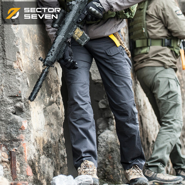 2017 New Design Waterproof War Game Cargo Silm Casual Pants Side Zipper Trousers Combat SWAT Army Military Pants for Mens