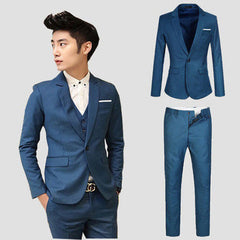Free shipping new 2015 autumn and winter men's casual suit wedding suits for men clothing groom groomsmen blazer men suit